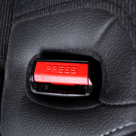 fasten: fasten your seat belt concept with red button and black copyspace