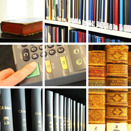 library collage with books showing education concept Stock Photo - 7322409