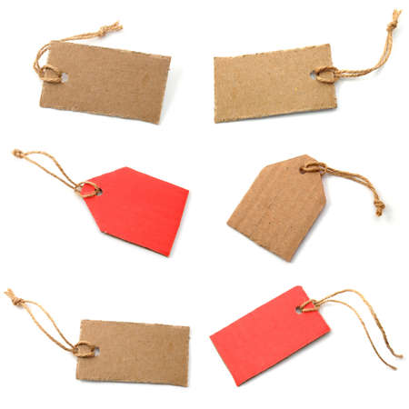 blank and empty price tag collection with copyspace Stock Photo - 7332260