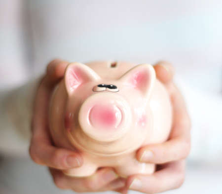 piggy bank and blank copyspace for your text message Stock Photo - 7331584
