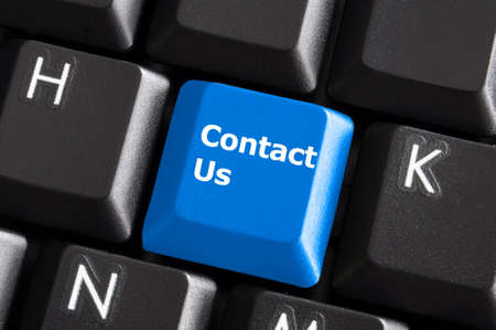 contact us or support concept with computer keyboard button Stock Photo - 7338958