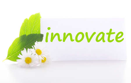 innovate concept with word on nature still life Stock Photo - 7403493