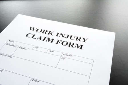 work injury claim form showing business insurance concept Stock Photo - 7403601