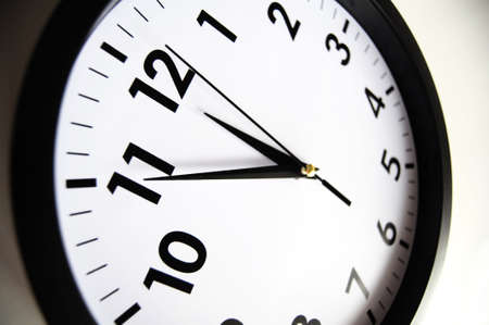 watch or clock isolated on white showing time concept Stock Photo - 7403517
