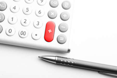 accounting concept with calculator and pen in business office Stock Photo - 7485684