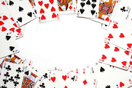 jeu de cartes: carte de jeu image avec atelier pour votre message texte
