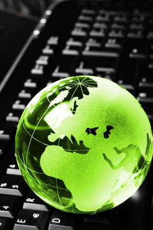 globe and keyboard showing global communication or internet concept Stock Photo - 7485791