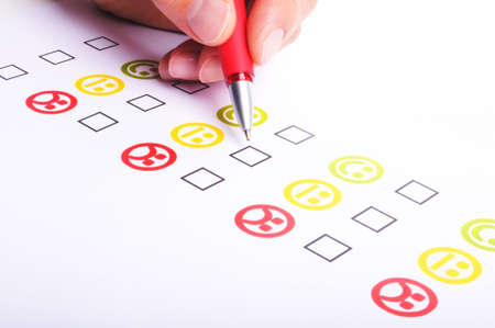 customer satisfaction questionnaire showing marketing or business concept Stock Photo - 7522253