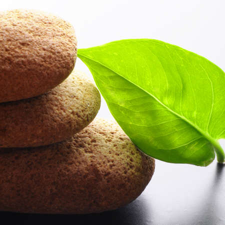 spa or zen concept with stones showing healthy lifestyle or nature photo