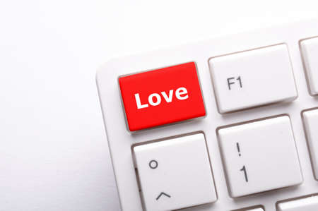 love on key or keyboard showing internet dating concept Stock Photo - 7711117