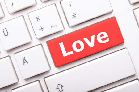 love on key or keyboard showing internet dating concept Stock Photo - 7723660