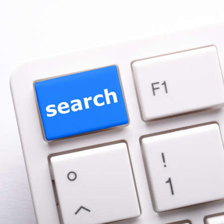 internet search concept with word and key on keyboard Stock Photo - 7723623