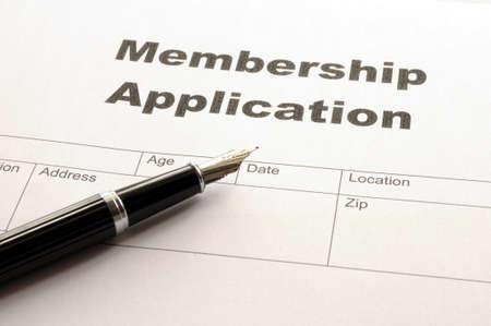 Antrag auf Mitgliedschaft in Business büro auf desktop