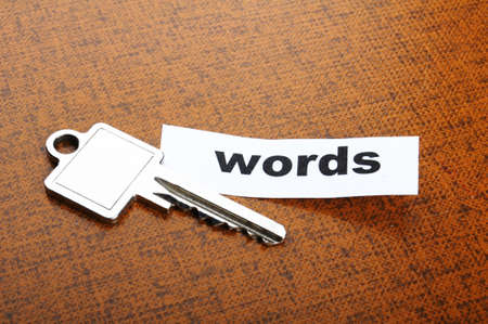 keyword key words seo or metadata concept showing internet data search