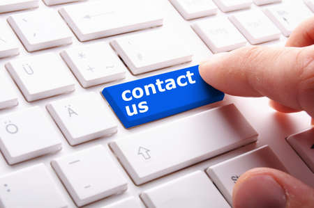 contact us word on computer keyboard key showing business communication Stock Photo - 7795024