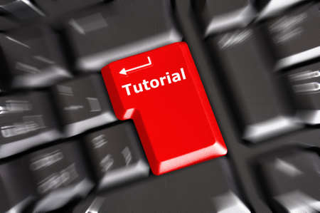 tutorial or e learning concept with key on computer keyboard photo