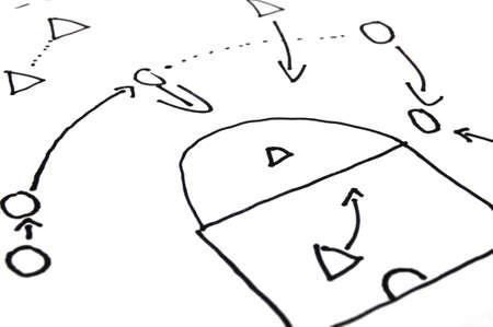 strategie: Strategie Spiel Plan on white Background with copyspace Lizenzfreie Bilder