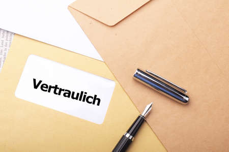 confidential or top secret letter showing business post concept photo