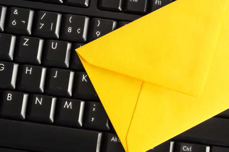 email concept with envelop and keyboard showing modern communication photo