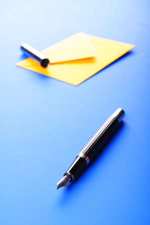envelop and pen showing mail or communication concept Stock Photo - 7820809