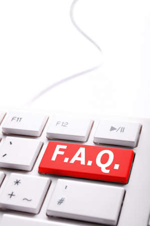 frequently: faq or frequently asked questions concept with computer key