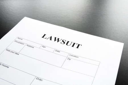 lawsuit form or document in business office Stock Photo - 7880726