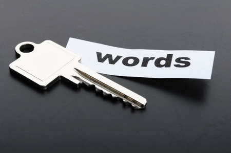 keywords metadata or seo concept with key and word Stock Photo - 7880682