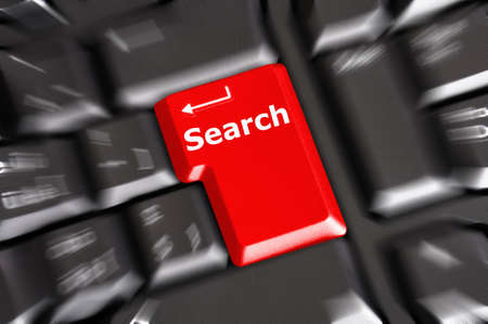 internet search concept with word and key on keyboard Stock Photo - 7880630
