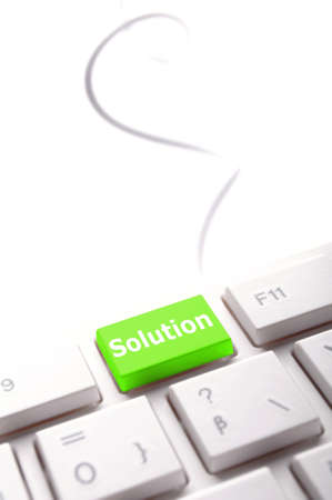 business solutions or problem concept with word on computer keyboard Stock Photo - 7880604