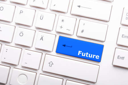 future key or keyboard showing forecast or investment concept photo
