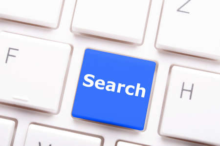 internet search concept with word and key on keyboard Stock Photo - 7994462