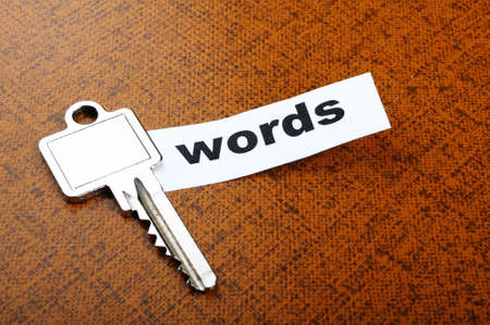keywords metadata or seo concept with key and word Stock Photo - 8046398