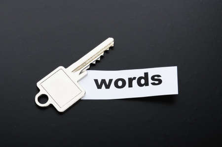 keywords metadata or seo concept with key and word Stock Photo - 8067278