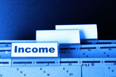 income word on business folder showing finance financial or earnings concept Stock Photo - 8067286