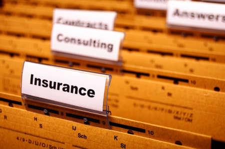ubezpieczenia: ubezpieczenia programu word na koncepcjÄ… biznesowÄ… folderu przedstawiajÄ…cy ryzyka zarzÄ…dzania