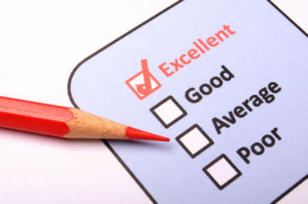 customer satisfaction survey form with checkbox showing marketing concept Stock Photo - 8067254