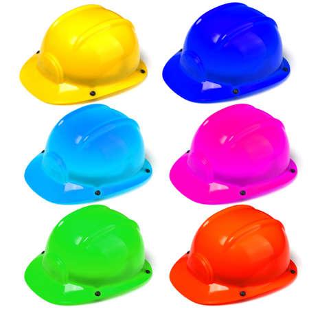 construction helmet or hard hat isolated on white background photo