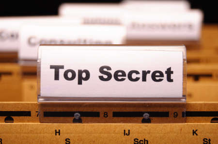 secret password: top secret folder or file in a business office