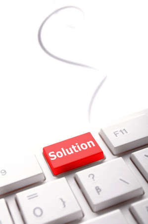 solution concept with internet computer key on keyboard Stock Photo - 8119834