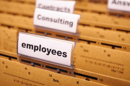 resources: employess word on business office folder shopwing job hiring or work concept