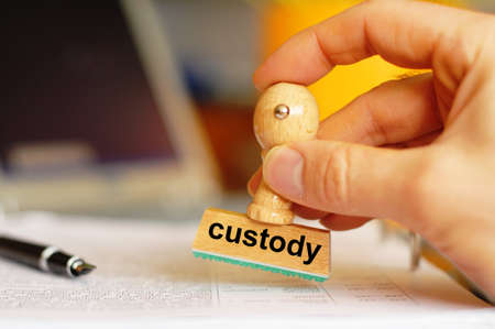 custody stamp showing law or crime concept Stock Photo - 8183289