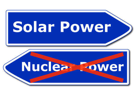 renewabel: solar or renewabel power and energy concept with sign isolated on white background