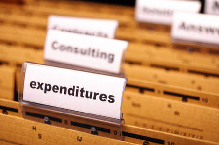 expenditures word on business folder showing costs finance or investment concept Stock Photo - 8221744