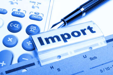 import word on business office folder showing internation trade or globalisation concept Stock Photo - 8221743