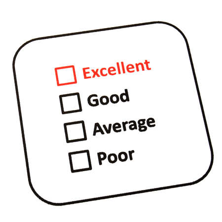 customer service survey with red pencil and checkbox showing satisfaction concept Stock Photo - 8221654