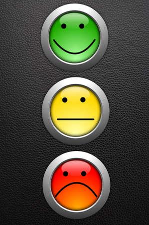 ottimo: concetto di feedback di servizio affari cliente con pulsante survey