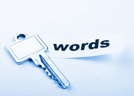 keywords metadata or seo concept with key and word Stock Photo - 8399446