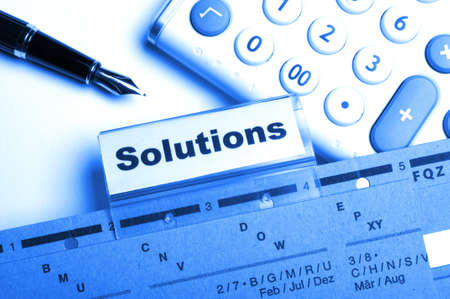 solution word on business folder showing solving a problem concept Stock Photo - 8399542