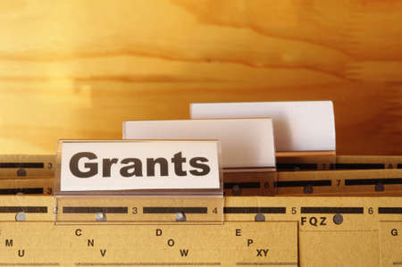 grants word on paper folder showing scholarship or higher education concept Stock Photo - 8424005