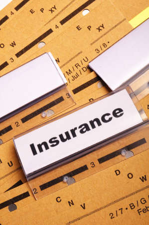 insurance word on business folder showing risk management concept Stock Photo - 8424014